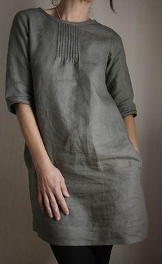 street fashion, beauti dress, cloth, black boots, dresses, linens, grey, japanese sewing, tunics
