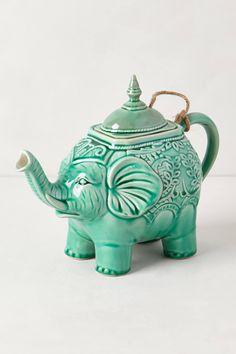 elephants, decor, elephant teapot, eleph teapot, futur, dream, tea pot, anthropologie, apart