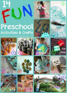 14 Fun Preschool Activities and Crafts connected with science and exploration. Use some of these ideas for outside