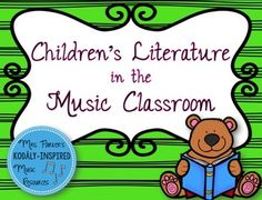Over 80 pages of ideas, lessons, manipulatives, and visuals for incorporating 9 different children's books into the music classroom