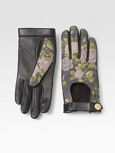 Rag & Bone floral driving gloves