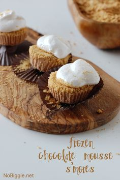 frozen chocolate mousse s'mores | #BabyCenterBlogsmore cup, food ...