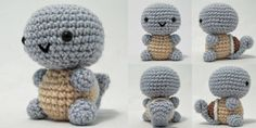 "Free Pattern : Squirtle Amigurumi by ""i crochet things"""