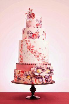 amazing picture of Vintage wedding cake 2014