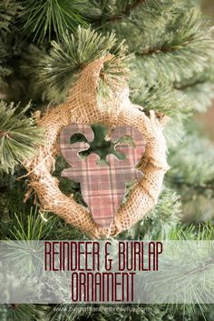 Burlap and Reindeer
