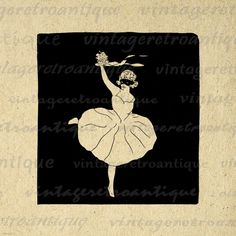 Large high resolution digital antique ballerina image for fabric transfers, making prints, tea towels, pillows, and much more. Great for Etsy. Vector available. This ballet dancer digital image is high quality, high resolution at 8½ x 11 inches. Need this graphic in a larger size? Upscale this graphic to any size without quality loss, contact me for more information. A Transparent background .PNG format version is included free. Shop more and save Save up to half off your order ...