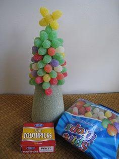 4 Crazy Kings: Christmas Kids Craft: Work In Progress Gumdrop Trees