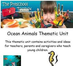Ocean Animals Theme - Preschool and Kindergarten Learning and Play!