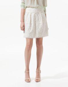 Zara Guipure Lace Skirt