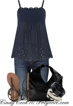 """Cami Top"" by cindycook10 on Polyvore"