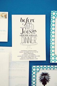 Lovely rehearsal dinner invite