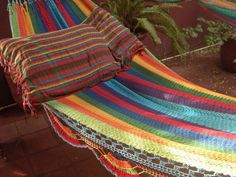 Hammocks Turquoise Double Hammock handwoven Natural by hamanica, $55.00