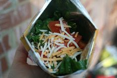 what a cool idea! camping food? Walking Tacos (or Tacos in a Bag)