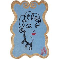 lulu guiness glamour girl silk rug