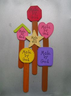 Made by God Christian/Inspirational Plant Pokes Set of 6 by ifrogcrafts