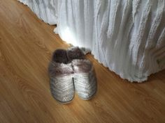 Bling fur-lined house slippers -- perfect for winter!!!