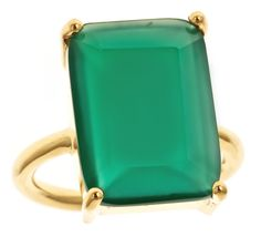 Emerald Cut Onyx Cocktail Ring ($128)