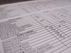 Cleaning Checklist You Can Customize