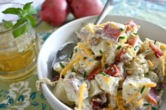 Loaded Baked Potato Salad - www.countrycleaver.com