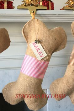 Personalized Dog Christmas Stocking @Patricia Christensen cute idea for Buster and Katy