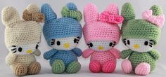 Hello Kitty crochet plush