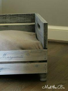 DIY Wooden Crate Pet Bed | Meet the B's