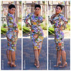 #DIY Floral Knit Dress