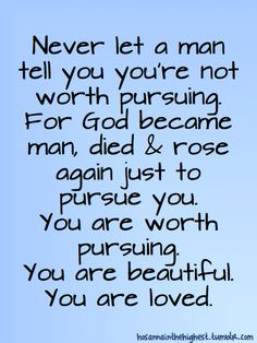 To all of my sisters, friends, and female family members, keep your standards high and remember this