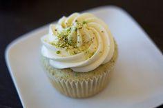 Pistachio Cupcakes with Honey-Vanilla Frosting | 53 Amazing PistachioDesserts