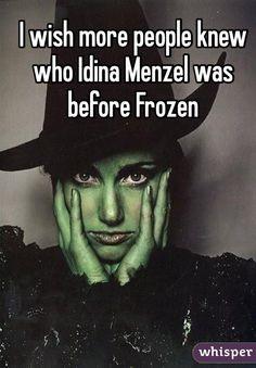 idina-menzel rent, wicked, enchanted!