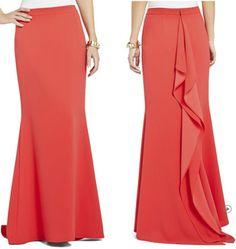 BCBG Max Azria's back-drape skirt ($298)