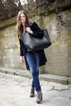 big leather bag