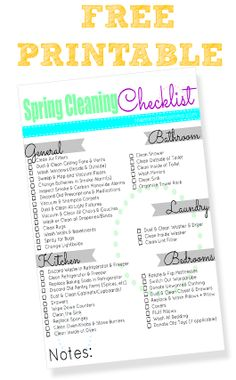 Spring Cleaning Checklist [#FREE Printable!]