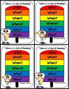 Free! Take a LICK out of Reading- A visual to help students generate questions about their reading.