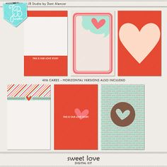 Sweet Love Cards by JB Studio