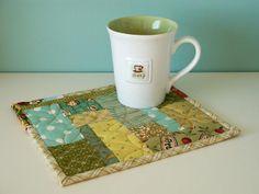 Scrappy Mug Rug by PatchworkPottery, via Flickr