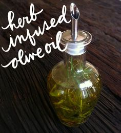 DIY herb infused olive oil