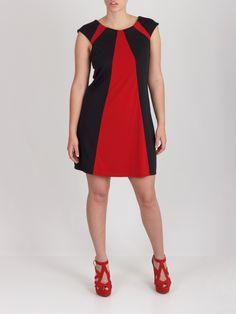Vestido triángulos rojo #dress
