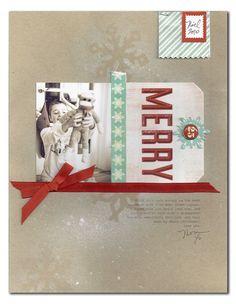 #papercraft #christmas #scrapbook #layout.   @Melanie Bauer Bauer Bauer Louette for Ormolu