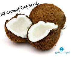 Hydrating DIY Coconut Oil Foot Scrub via @agirlsgottaspa #beauty