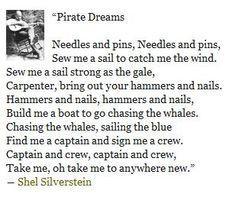 Pirate Dreams -Shel Silverstein