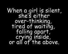 when a girl is silent...