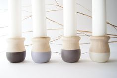 Wooden Candle Cups