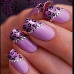 #purple #animalprint #nailart