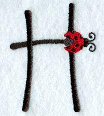 Ladybug Letter H