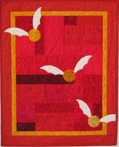 "Harry Potter Gryffindor Crib Quilt, reserved.  36"" x 45"""