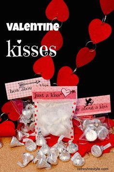 Valentine Kisses {free printables} - Refresh Restyle