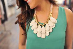 Dottie Couture Boutique - Statement Necklace Set- Cream, $12.00 (http://www.dottiecouture.com/statement-necklace-set-cream/)