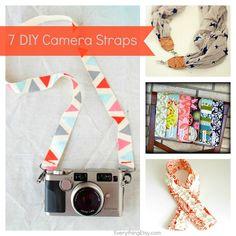 7 DIY Camera Strap Tutorials - EverythingEtsy.com #diy #photography