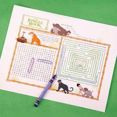 The Jungle Book Activity Sheet. #BareNecessities